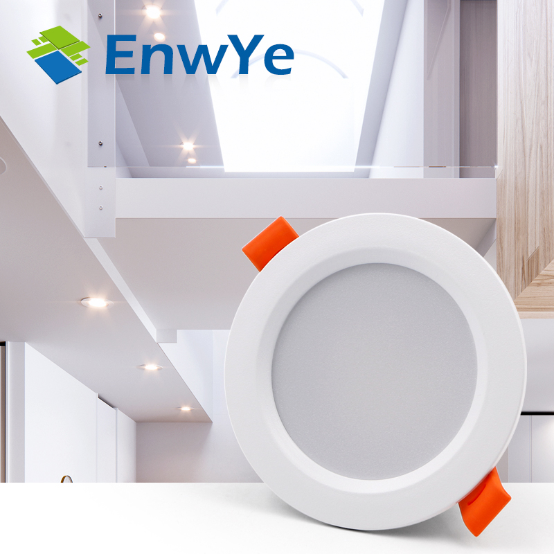 EnwYe LED Downlight Ceiling 3W Warm White/Cold White Led Light AC 220V 230V 240V New Style