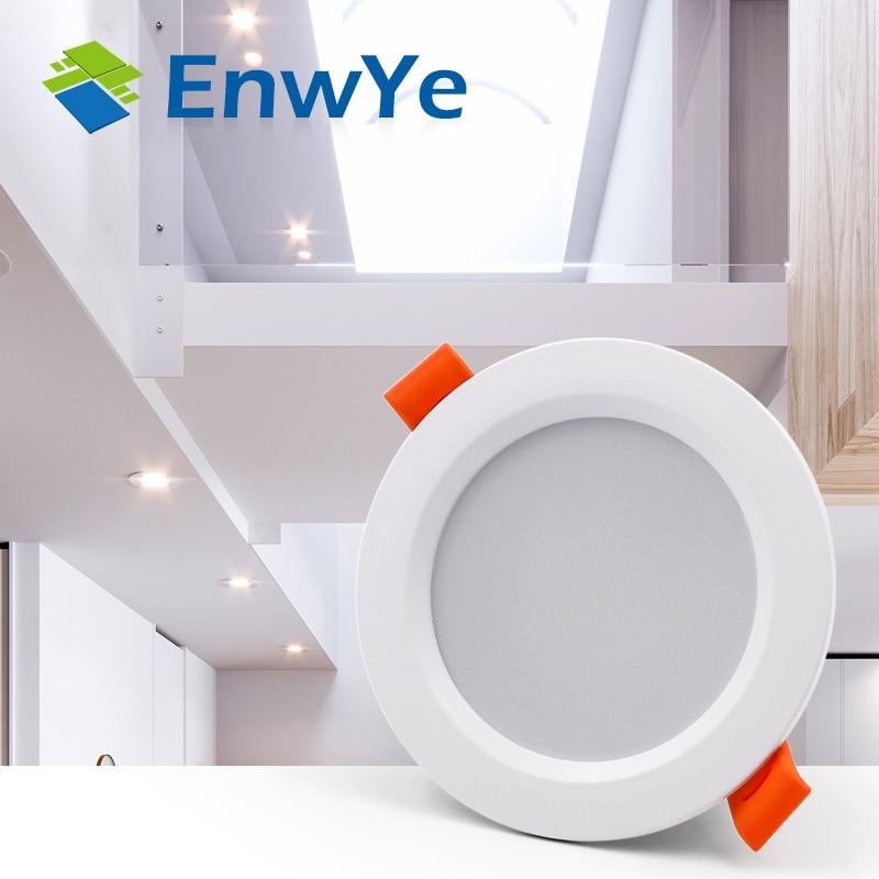 EnwYe LED Downlight Ceiling 3W Warm White/Cold White Led Light AC 220V 230V 240V New Style