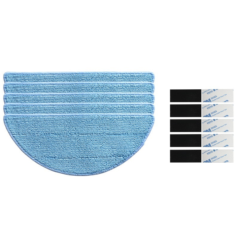 купить 5x Mopping Cloth + 5x magic paste For CONGA EXCELLENCE Robotic Vacuum Cleaner Parts replacement онлайн