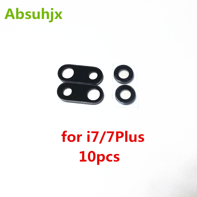 Enthusiastic Absuhjx 10pcs Back Camera Lens For Iphone 7 6 6s Plus 7g 7p Rear Camera Cover Lens Frame With Glass Replacement Parts Vivid And Great In Style