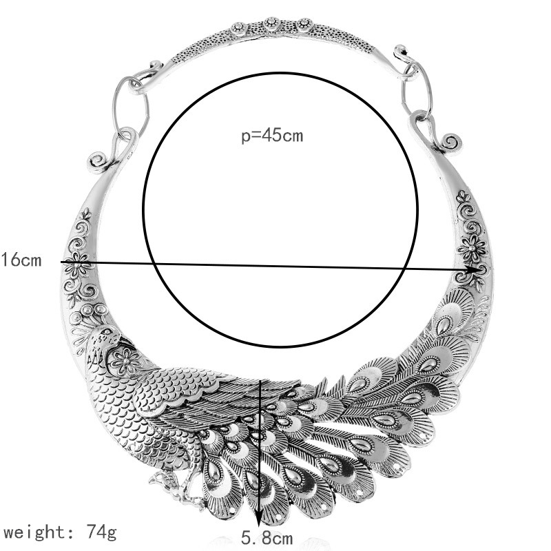 LOVBEAFAS 17 Fashion Ethnic Bohemian Choker Necklace Vintage Peacock Chinese Element Maxi Necklace Statement Collar Necklace 1