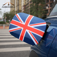 AMBERMILE ABS Car Fuel Tank Cap Covers Stickers Union Jack Auto Sticker for Mini Cooper Countryman F60 Accessories Car Styling