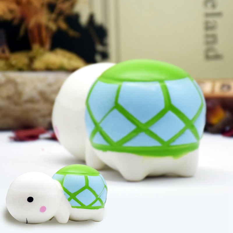 Kawaii Cute Cartoon Turtle Bun Tortoise Soft Slow Rising Animal Scented Bread Cake Kids Fun Toys