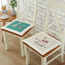 comfortable cool new dining chair cushions office chair nonslip ice silk cushion pattern random
