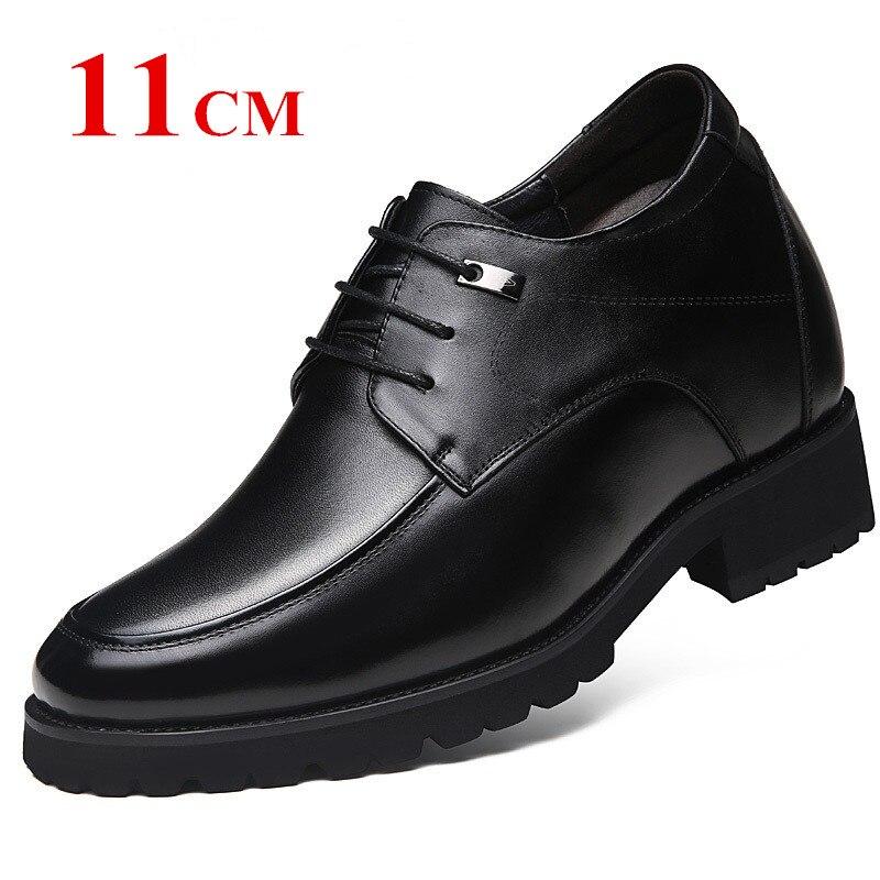 Extra Alto 4.7 Polegadas Clássico Oxford Sapatos Altura Crescente Elevador Aumento da Altura Dos Homens Couro de Bezerro 12 CM Invisivelmente