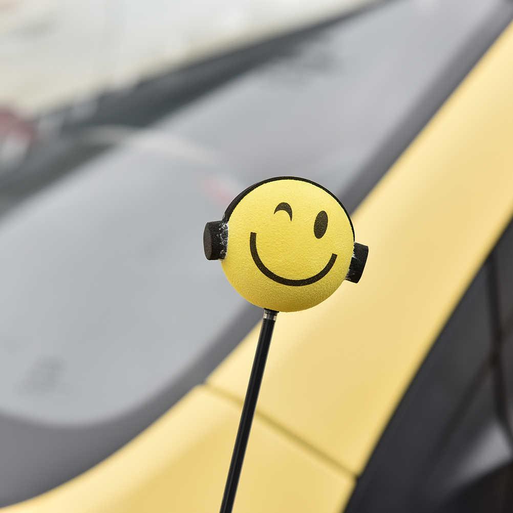 Милые наушники мальчик Eva декоративные автомобильные верхушка для антенны шары желтый автомобиль внутренний аксессуар