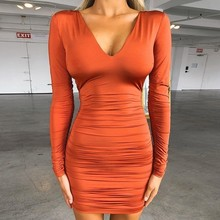 Causey V Neck Bandage Bodycon Dress Women Backless Sexy Party Dresses Mini Autumn Winter Dress 2019 james e causey twisted
