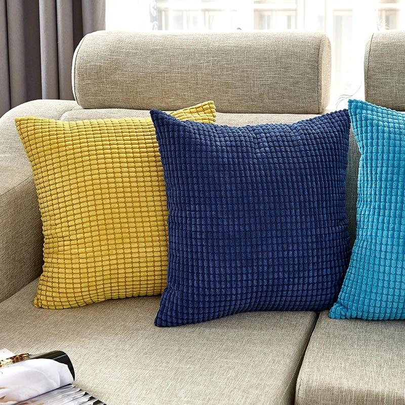 canirica velvet cushion cover blue throw pillows for living room decorative pillows sofa pillow cover 45x45cm nordic home decor