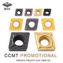 10 teile/los ZCC.CT werbe drehen hartmetall einsätze CCMT CCMT060204 CCMT09T304 CCMT120408 CNC drehen werkzeug für stahl gusseisen