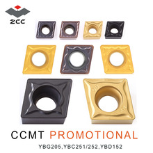 10pcs/lot ZCC.CT promotional turning carbide inserts CCMT CCMT060204 CCMT09T304 CCMT120408 CNC turning tool for steel cast iron