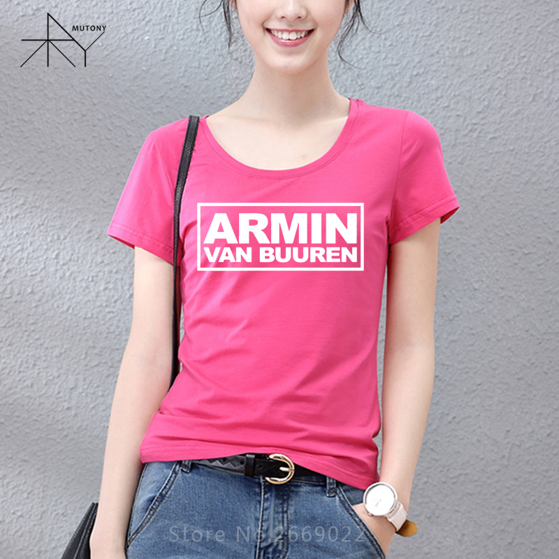 MC DJ Armin Van Buuren hip hop Woman's T-Shirt T Shirt For Women 2017 New Short Sleeve Cotton Casual Top Tee Camisetas Girls