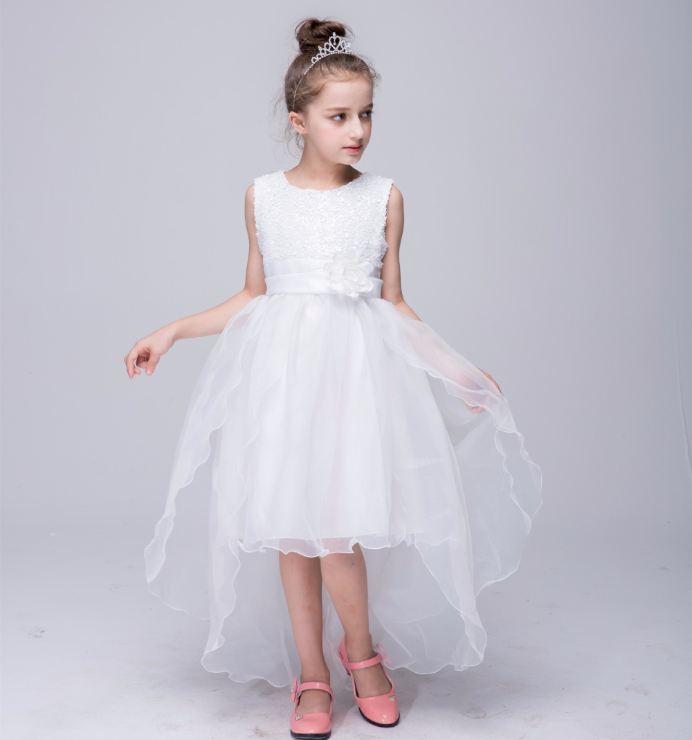 Flower Girl Dress Sequin Mesh Party Wedding Princess Tulle 10 Colors 2017 Summer Children Clothes Size 3-12 Pageant Sundress cutting ploter blade protection mat free shiping for saga plotter
