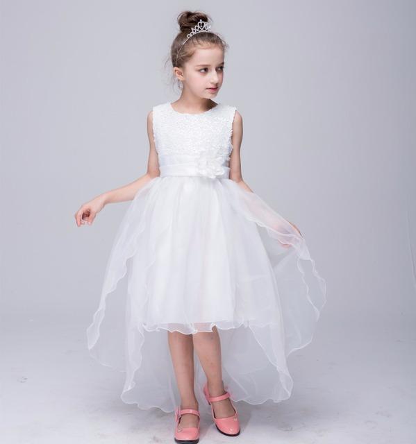 Niña de las flores Vestido de Fiesta de La Princesa Boda de Tul de Malla De Lentejuelas 10 Colores 2017 Verano Ropa de Los Niños Tamaño 3-12 Del Desfile vestido de tirantes