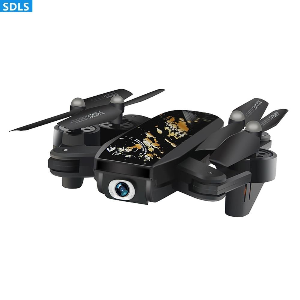 2.4G pliable RC Drone RC Quadcopters 720 P Wifi FPV Cam ensemble hauteur tenir une clé retour automatique décollage automatique APP contrôle cadeau