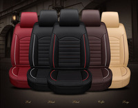 GEEAOK 2018 new style leather Universal Car Seat covers for Toyota Camry Crown REIZ Prado RAV4 auto accessories car styling