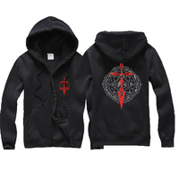 fate zero Emiya Kirits Cosplay Costume fate zero Casual game sweater Autumn Men Loose type Embroidered Hooded Fleece Jacket