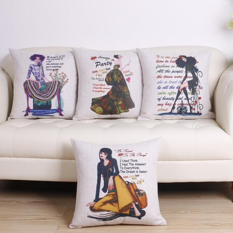 wholesale wedding gift pillow cover Milan Paris Paris sexy fashion letters ladies decorative cushion cover car sofa pillow case
