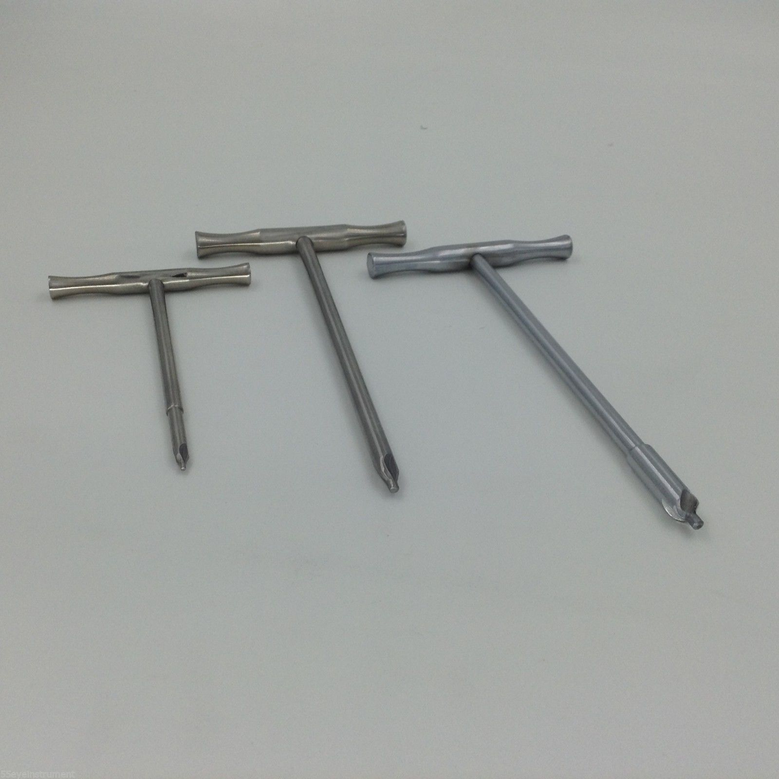 3pcs/set Reamer With T-handle 4mm 6mm 8mm Tip Orthopedics Veterinary Instrument