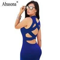 Abasona Nữ Bodycon Bandage Dresses Sexy Back Cut Out Chữ Thập Night Club Dress Phụ Nữ Mùa Hè Ngắn Mini Dress Robe Vestidos Mujer