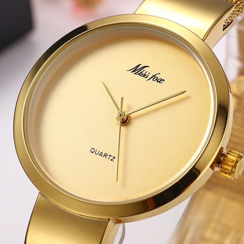 Miss Fox Women Watches Minimalist Super Slim Dw Simple Watch Women Stainless Steel Ladies Gold Watch Waterproof For Female Clock 1