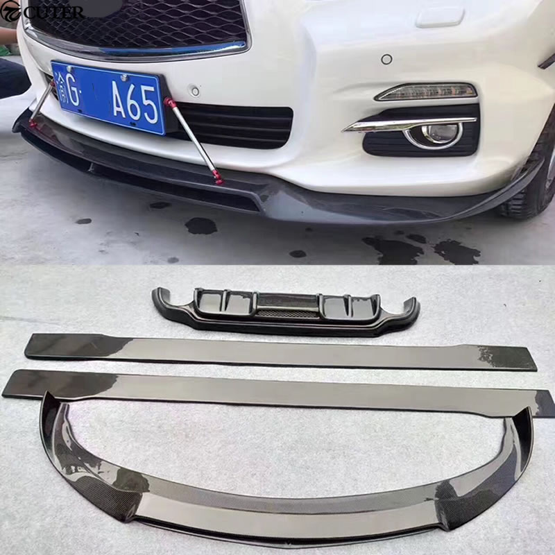 q50 carbon fiber rear lip front lip side skirts rear diffuser car body kit for infiniti q50 car. Black Bedroom Furniture Sets. Home Design Ideas