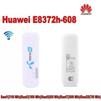 1000pcs Huawei E8372 E8372h-608 4G 150Mbps wingle USB Hotspot Modem plus 2pcs antenna 1
