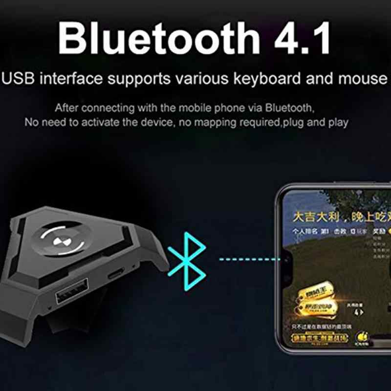 Мобильный геймпад PUBG контроллер игровая клавиатура мышь конвертер для Android ios телефон к ПК Bluetooth 4,1 адаптер Plug and Play