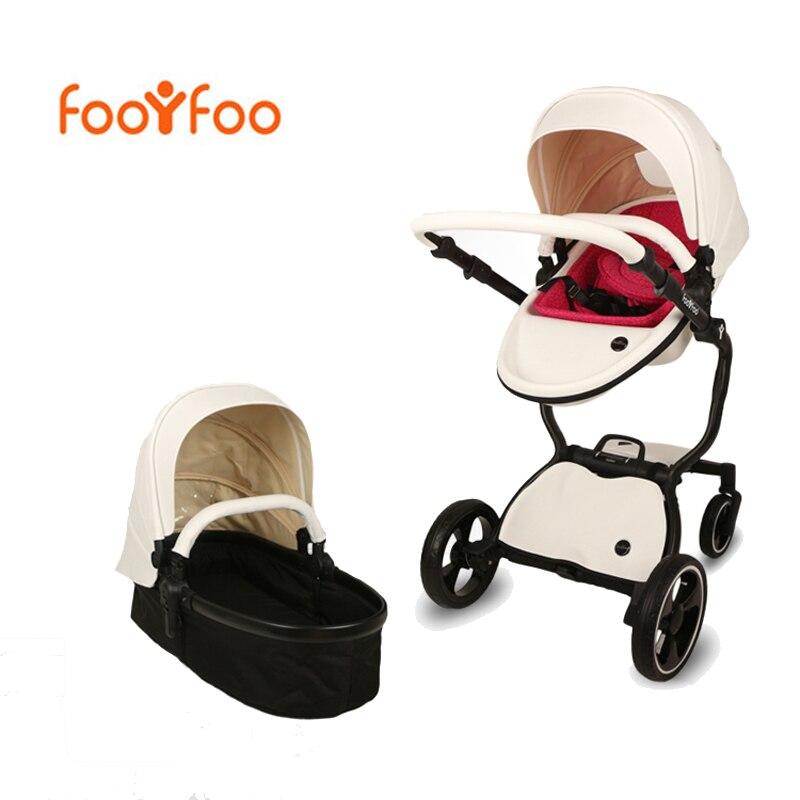 Foofoo детская коляска Эко-кожа детская коляска 2 в 1 Бесплатная доставка