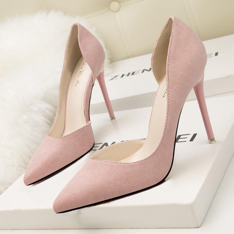 แฟชั่นผู้หญิงฤดูร้อนรองเท้าส้นสูงเซ็กซี่ pointed toe รองเท้าส้นสูงผู้หญิงปั๊ม-ใน รองเท้าส้นสูงสตรี จาก รองเท้า บน AliExpress - 11.11_สิบเอ็ด สิบเอ็ดวันคนโสด 1