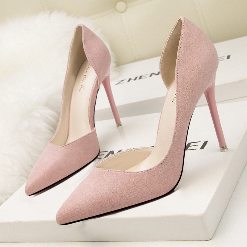 Women Fashion Summer Sexy High Heels Suede Leather Pointed Toe Heels Women Pumps