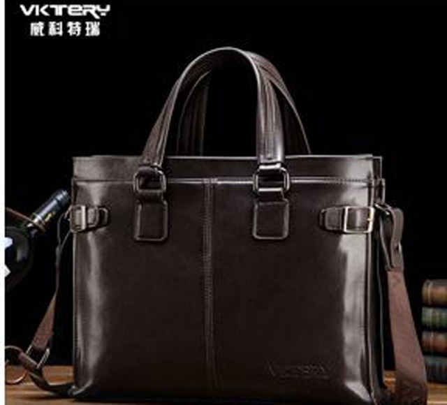 Free shipping 2016 new fashionable pu men leather bags brand VKTERY men shoulder bag leather messenger bag briefcase