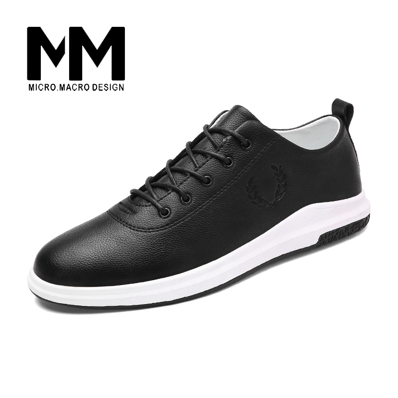 MICRO. MACRO Men Casual Shoe 2017 Spring New Design Linghtweight Breathable Solid Fashion flat shoe Pu Leather men shoe 1713 micro micro 2017 men casual shoes comfortable spring fashion breathable white shoes swallow pattern microfiber shoe yj a081