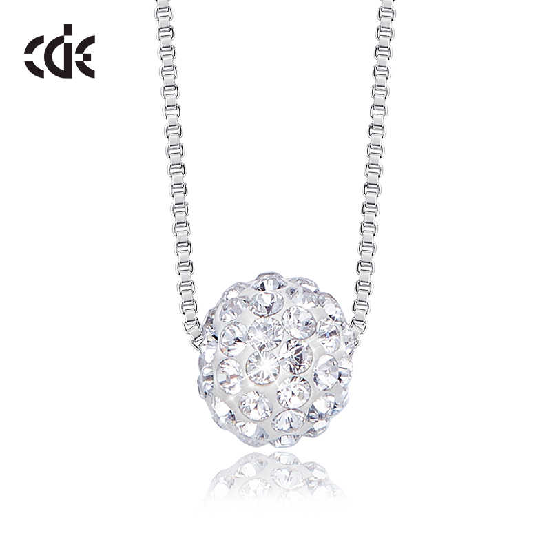 CDE Crystal Pendant Necklace  Embellished with crystals from Swarovski 925 Sterling Necklace Women Chain Link Jewelry Collares
