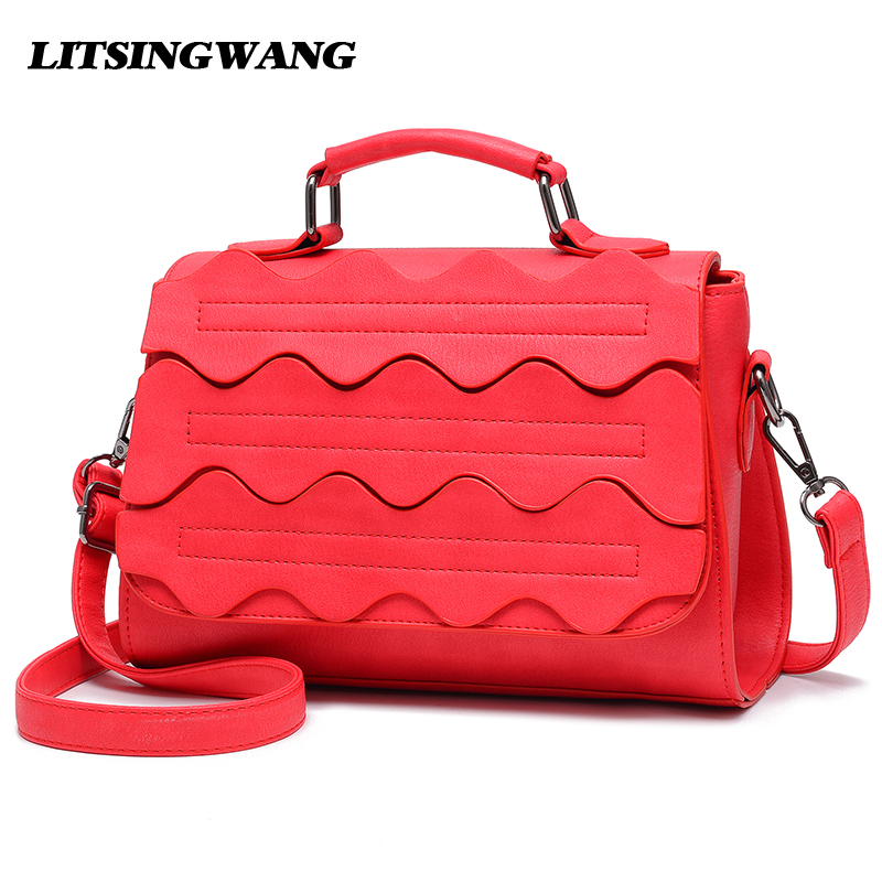 цены на LITSINGWANG Brand 2017 NEW Women Messenger Handbags Designer Shoulder Bags Fashion Tote Ladies Soft Leather Bag Red Crossbody в интернет-магазинах