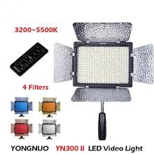 Yongnuo yn300 ii yn-300 pro led lumière vidéo caméra caméscope couleur avec télécommande contrôlée pour canon nikon