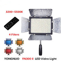 Yongnuo YN300 II YN 300 ll Pro LED Video Light Camera Camcorder Color with Remote Control controlled for Canon Nikon