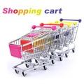Mini Shopping Cart Trolley Desktop Decor Ornament Toys Storager Organizer Set Top Hot