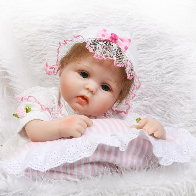 40cm Soft Silicone Reborn Babies Dolls Toys Lifelike Newborn Girl Baby Doll Children Birthday Gifts Xmas Present Play House Toy стоимость