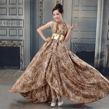 2017 New Theme Wedding Dresses Leopard Grain Fashion Dress Emerged Late Outfit