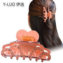 Women headwear rhinestone hair clips for girls cute claw crown accessories women