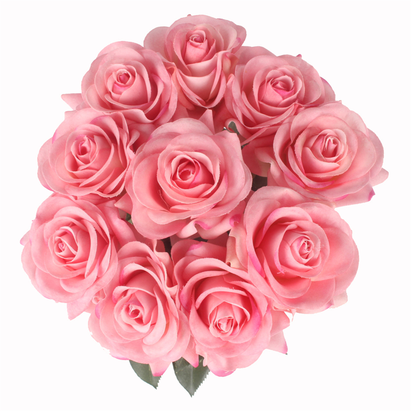 JAROWN Artificial Real Touch Hand Feel Rose Flowers For Valentine`s Day Preparation Wedding Decoration Home Decor (20)