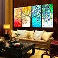Diy 3d bordado pintura colorida árvore ponto cruz bordados diy contado handmade needlework casa decoração do quarto