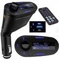Kit Transmitter Car MP3 For SD MMC LCD Remote FM Transmitter Modulator Wireless Blue Light USB