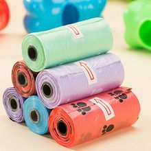 6 roll/Bag Dog Waste Poop Bag For Pooper Scooper Accessories Cat 22*28 cm Pet Product Supplies 15 pcs/roll Small