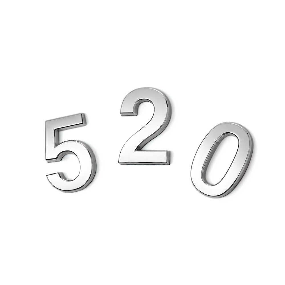 1Pcs Número Prata Moderno Placa Número Da Casa Endereço Dígitos Etiqueta Da Placa De Sinal Da Porta Do Hotel 0-9