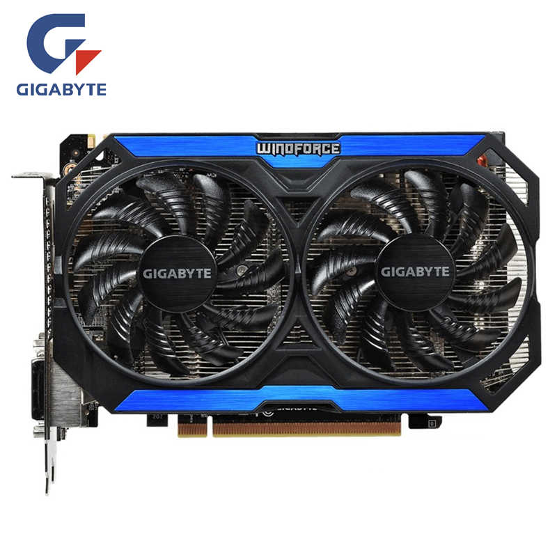 GIGABYTE Video Card Original GTX 960 2GB 128Bit GDDR5 Graphics Cards for nVIDIA VGA Cards Geforce GTX960 Hdmi Dvi game Used