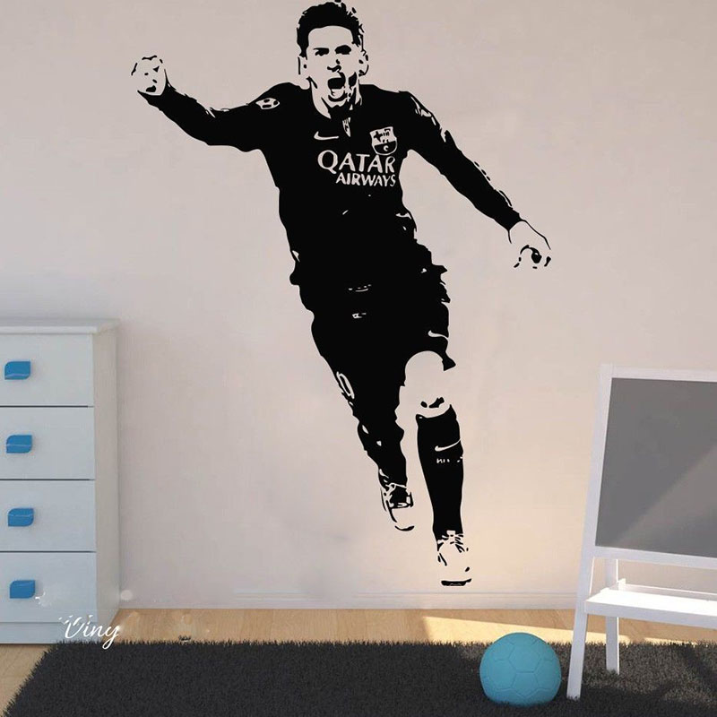 YOYOYU Lionel Messi Vinyl Wall Stickers Barcelona Football Player Removeable Decal Livingroom Bedroom Decoration Poster ZX366