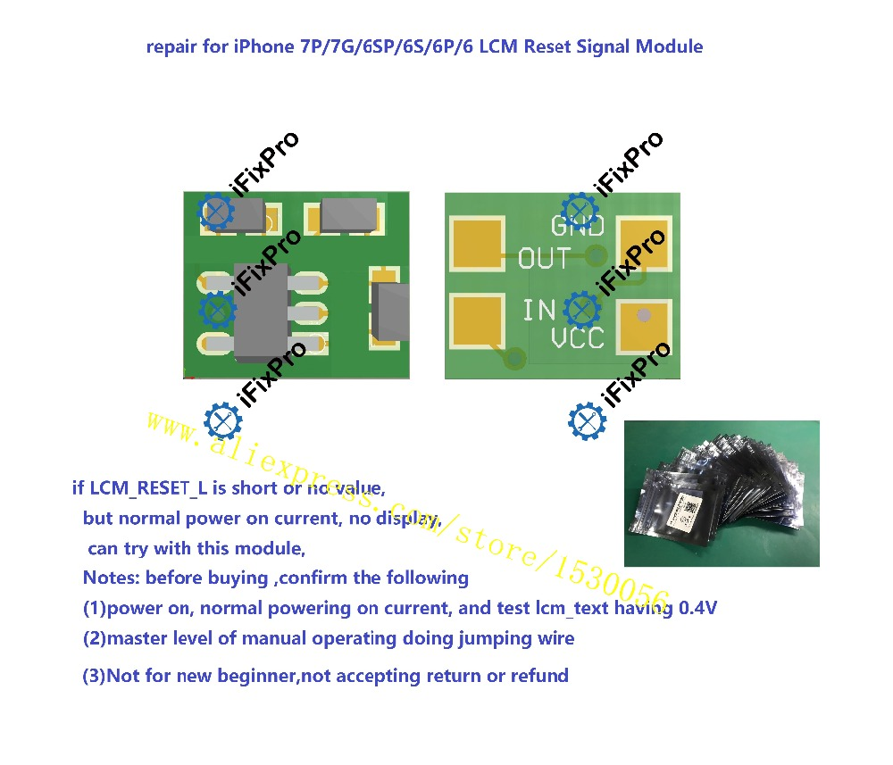 repair for iPhone 7P 7G 6SP 6S 6P 6 LCM Reset Signal Module