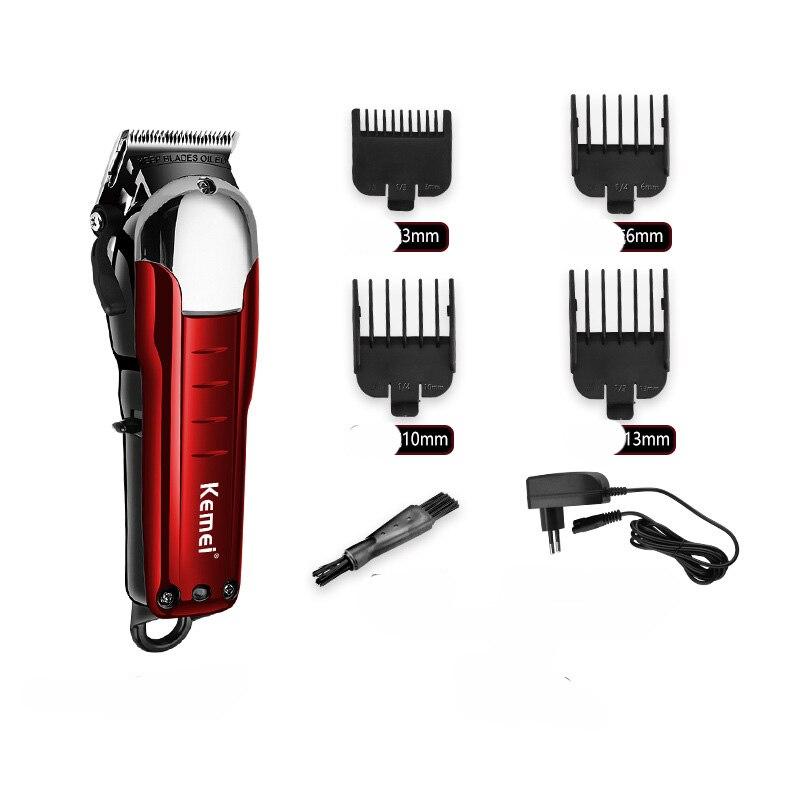 Kemei Professional Cordless Hair Trimmer Powerful Hair Clipper Haircut Machine Electric Cutter Hair Cutting Beard Razor Barber