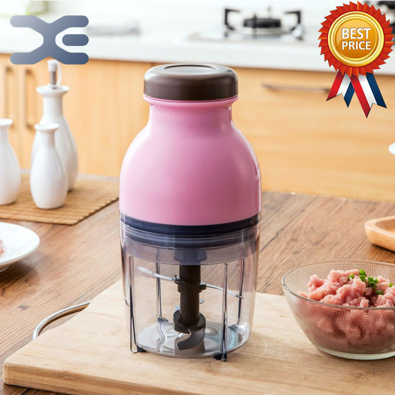 600ML Small Electric Meat Grinder Meat Food Cooking Machine Ice Machine Juicer Shredder Tritacarne edtid new high quality small commercial ice machine household ice machine tea milk shop